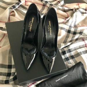 YSL 'Zoe' Black Patten heels size 6.5 $407.00